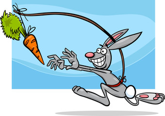 dangling a carrot saying cartoon