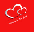Beautiful Valentines Day red colorful heart shape vector backgro