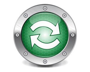 Techno green updating button
