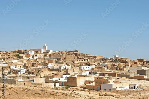 Fotobehang Tunesië Village Tamezret in Tunisia