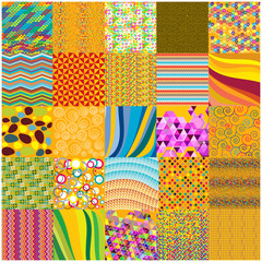 color vector patchwork background