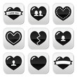 Love,hearts icons set for Valentine's Day
