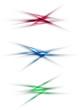 Set of blurred color shadow lines design elements