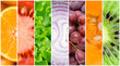 Healthy fresh food background