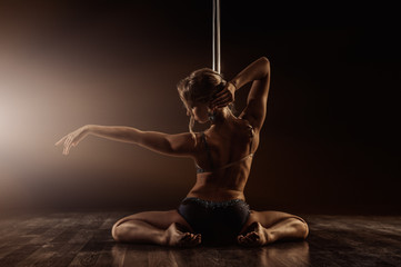 beautiful pole dance woman