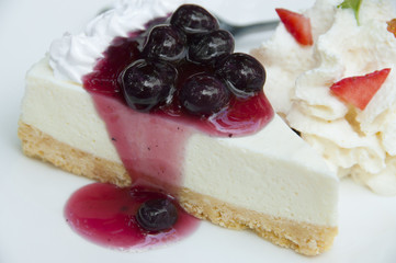 Blueberry cheese pie.