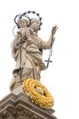 Pompei - Madonna in cima al Santuario omonimo