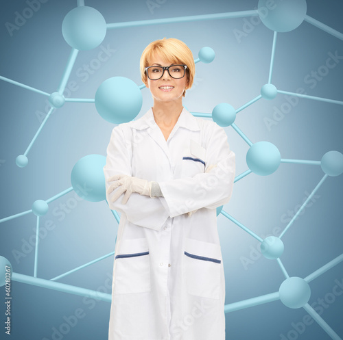 smiling female doctor in glasses