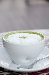 Hot milk green tea.