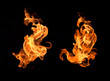 canvas print picture - Fire flames background