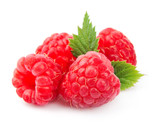 Sweet raspberry with leafs