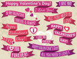 A set of ribbon valentine's design, vector
