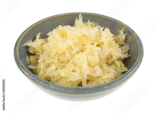 Canned Sauerkraut In Bowl Side
