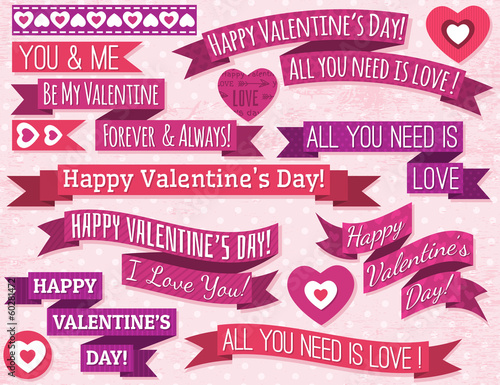 A set of valentine's design, vector