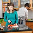 Paar kocht in Küche