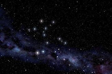 Cerntaurus constellation in the starry night