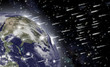 Fall of asteroids. Image elements furnished by NASA - 60282096