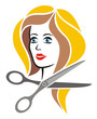 Hairdresser Symbol Colored