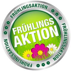 """Button """"Frühlingsaktion"""" grün/pink/silber"""