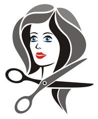Hairdresser Symbol Black