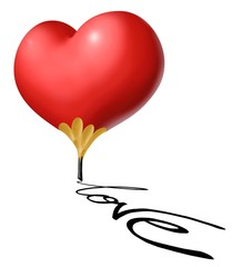 cuore matita