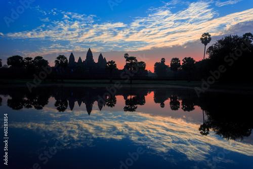 Sunrise at Angkor Wat Reflection