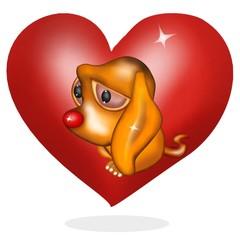 cane tenero cuore