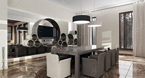 Luxury modern interior in daylight - 60284012