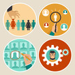 Vector  human resources concepts and icons