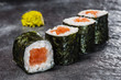 Maki rolls with smoked salmon