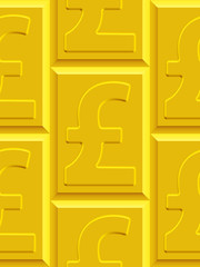 Gold pound sterling pattern