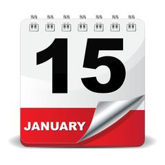 15 JANUARY ICON