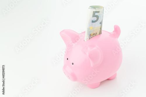 Euro Savings - Money in Piggy Bank