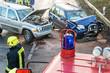 Verkehrsunfall - Feuerwehr im Einsatz