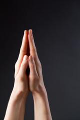 Hands in Position for Prayer