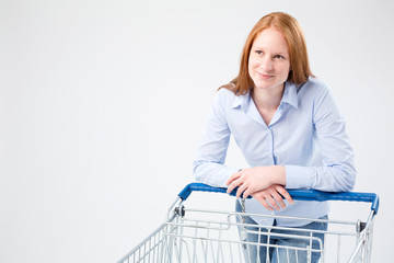 Young Woman Doing Grocery Shopping