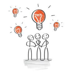 Brainstorming,  im Team Ideen entwickeln