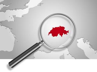 Landkarte *** Europa Schweiz