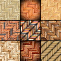 collection of parquet designs