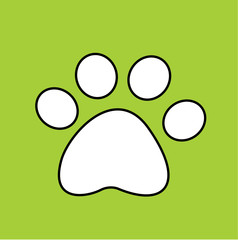 pet paw vector