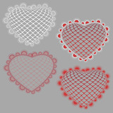 Vector lace hearts