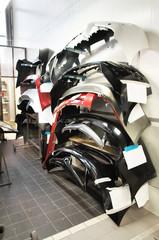 bumpers warehousing in a bodyshop store