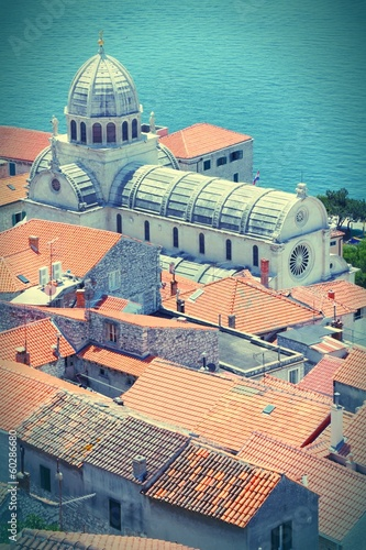 Sibenik, Croatia - cross processed color tone
