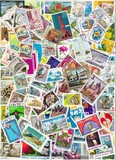 Background with Postage Stamps Of The World