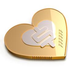Monedas Corazón