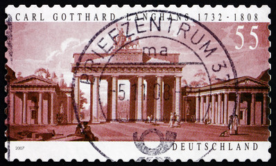 Postage stamp Germany 2007 Brandenburg Gate