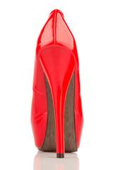Rote High Heels, einzelner Schuh