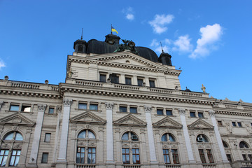 Architectural ensemble of great building in Lvov