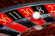 Постер, плакат: Classic casino roulette wheel with red sector thirty 30
