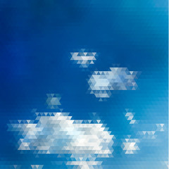 Abstract sky illustration with triangular pattern